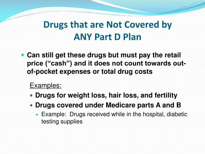 Drugs that are Not Covered by ANY Part D Plan