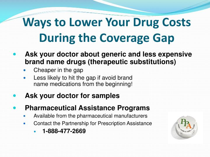 Ways to Lower Your Drug Costs During the Coverage Gap