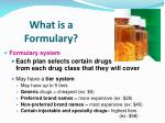 what is a formulary