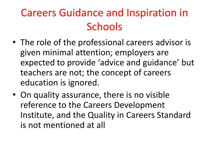 Careers Guidance and Inspiration in Schools