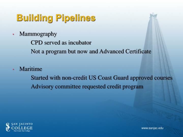 Building Pipelines