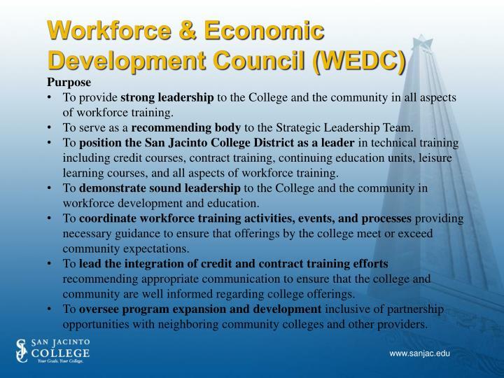 Workforce & Economic Development Council (WEDC)