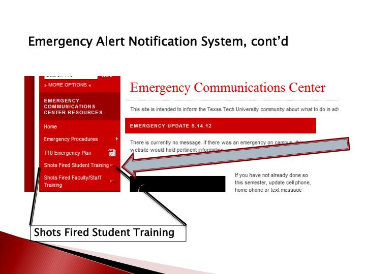 Emergency Alert Notification System,