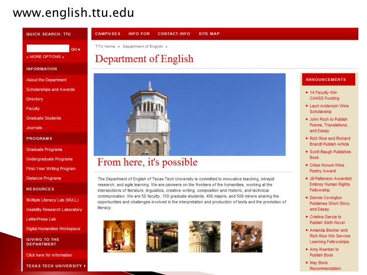www.english.ttu.edu