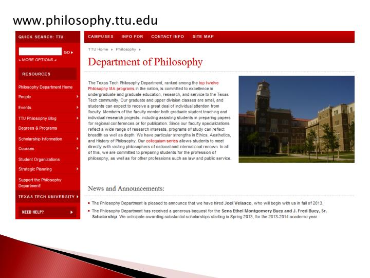 www.philosophy.ttu.edu