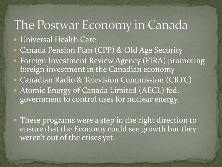 The Postwar Economy in Canada