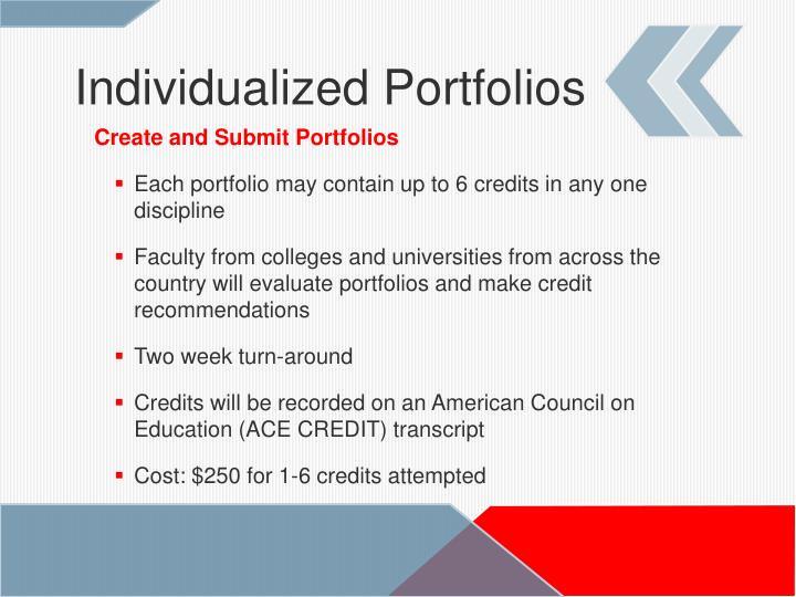 Individualized Portfolios