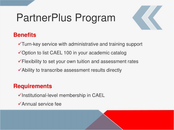PartnerPlus Program