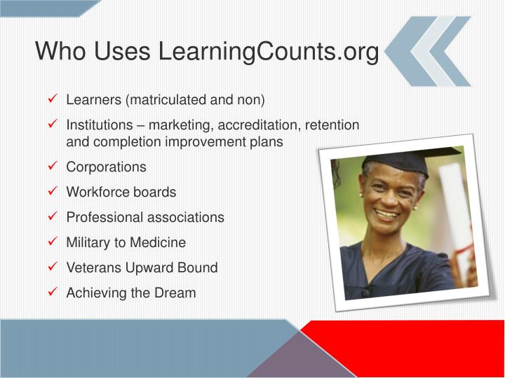 Who Uses LearningCounts.org