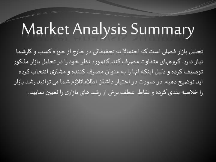 Market Analysis Summary