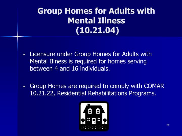 Group Homes for Adults with Mental Illness