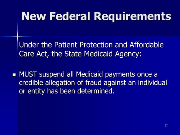 New Federal Requirements