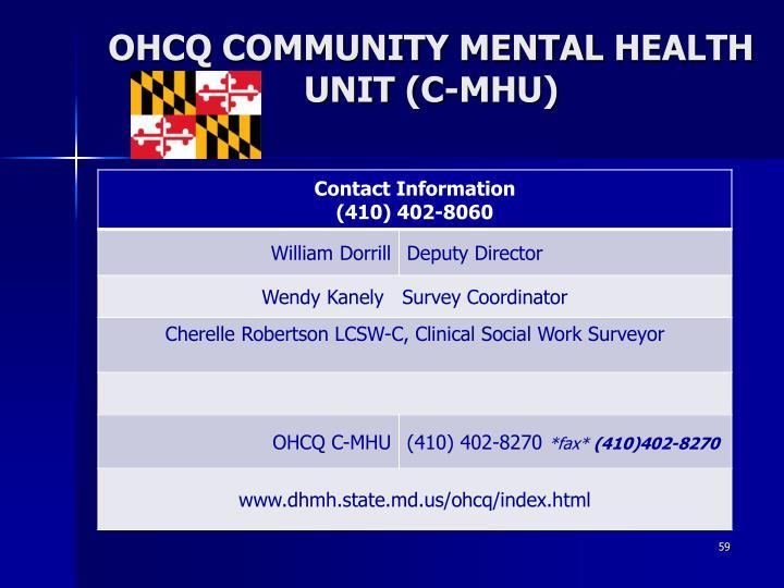 OHCQ COMMUNITY