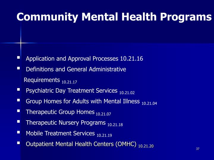Community Mental Health Programs