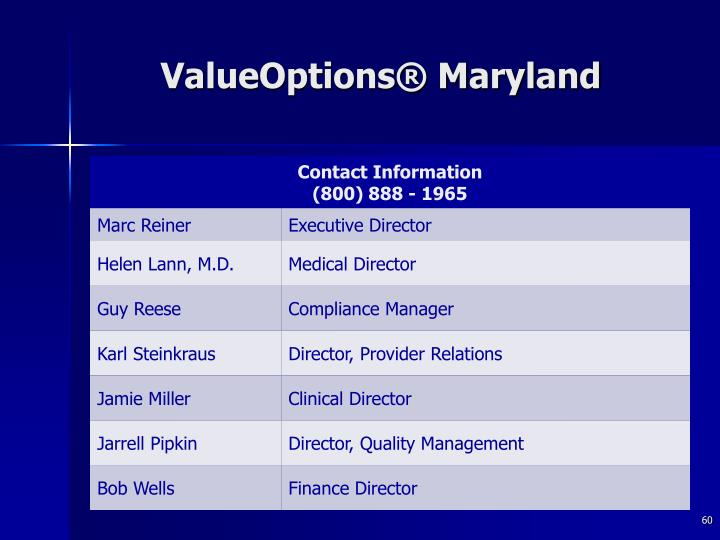 ValueOptions® Maryland