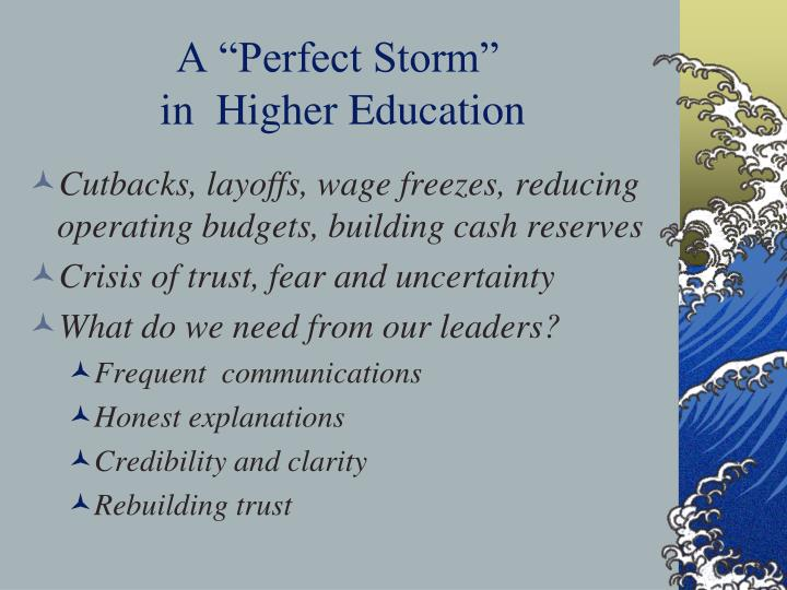 """A """"Perfect Storm"""""""