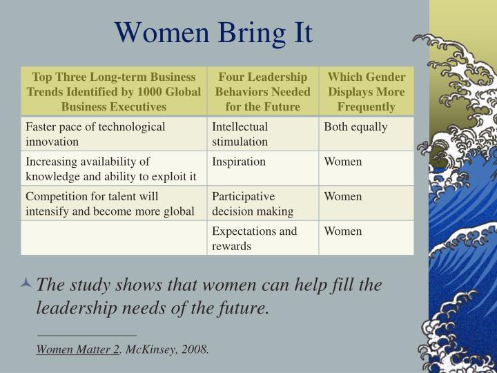 Women Bring It