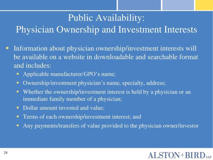Public Availability: