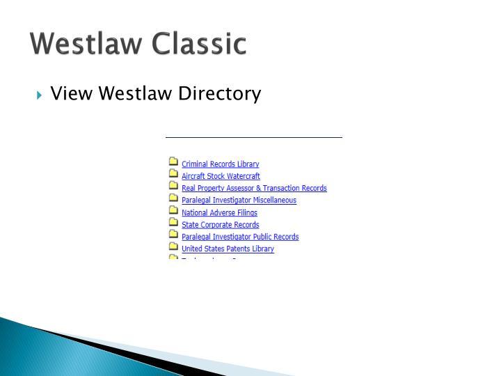 Westlaw Classic