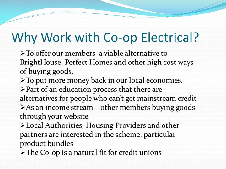 Why work with co op electrical