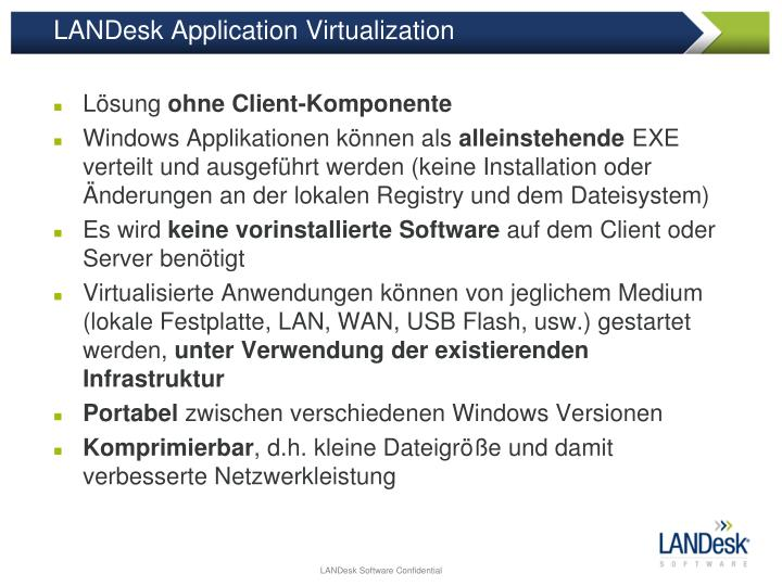 LANDesk Application Virtualization