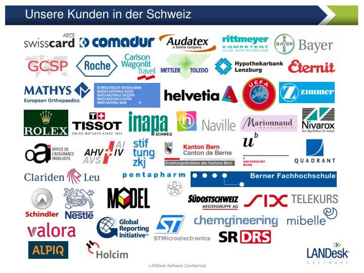 Unsere Kunden in der Schweiz