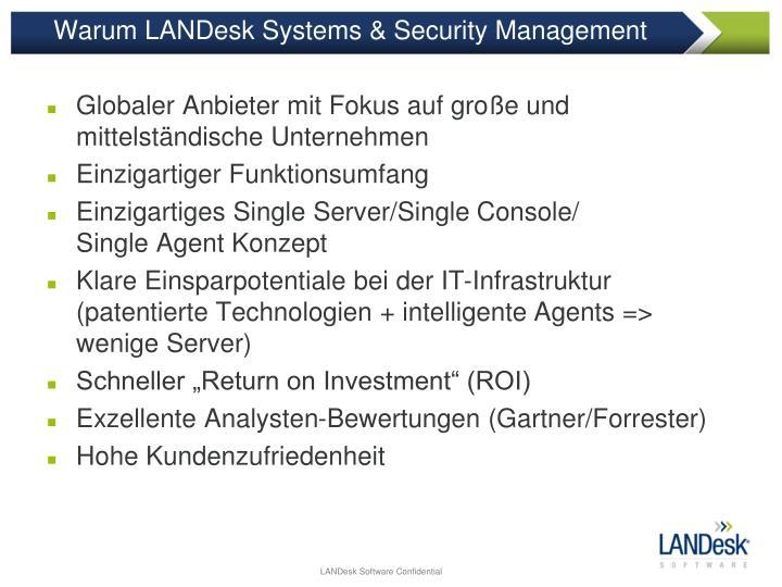 Warum LANDesk Systems & Security Management