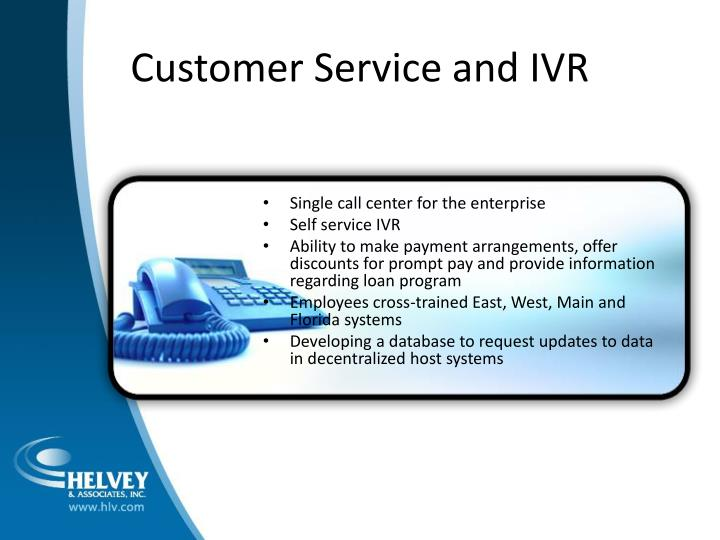 Customer Service and IVR