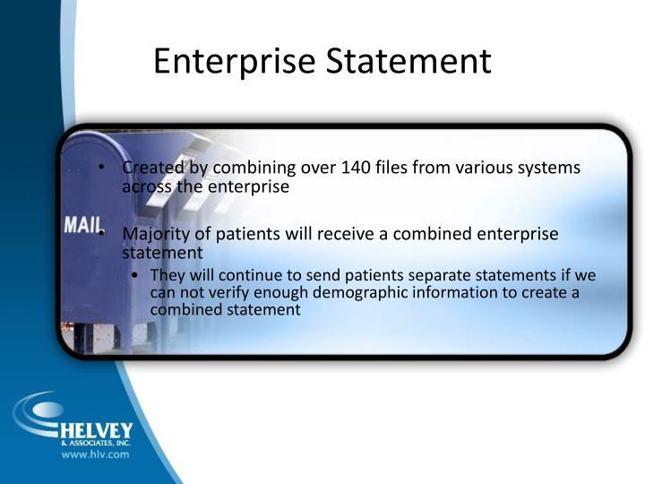 Enterprise Statement
