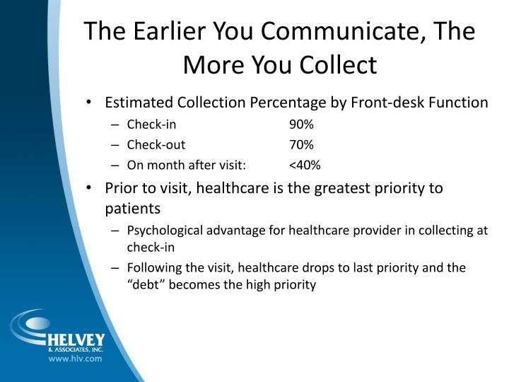 The Earlier You Communicate, The More You Collect