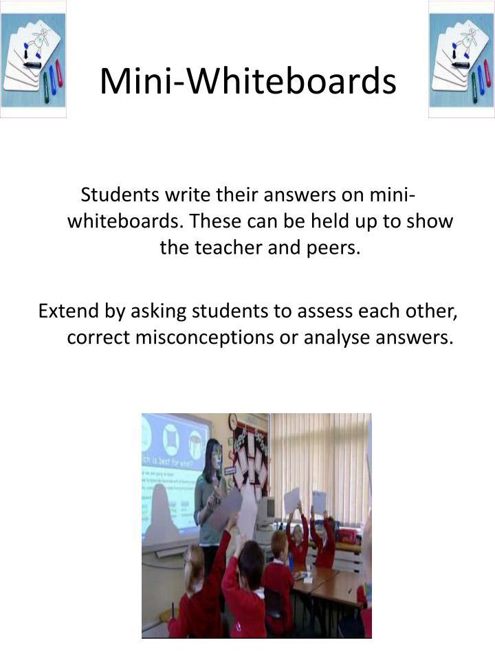 Mini-Whiteboards