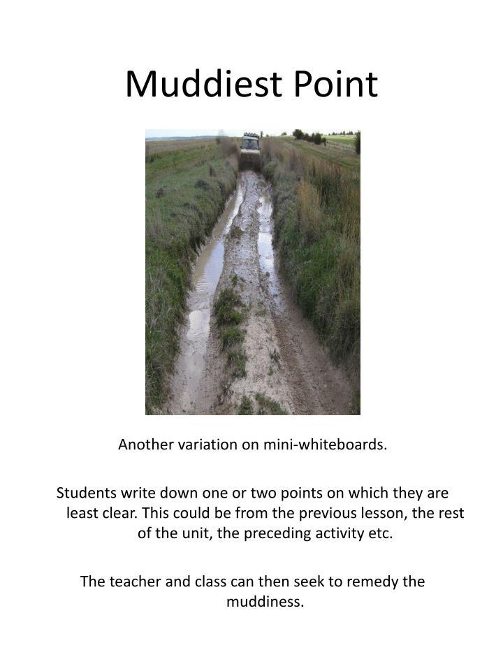 Muddiest Point