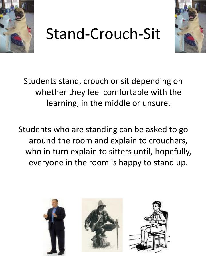 Stand-Crouch-Sit