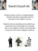 stand crouch sit
