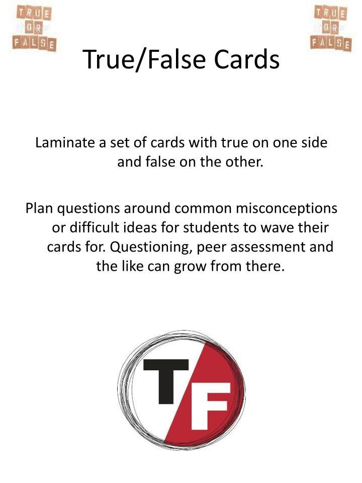 True/False Cards