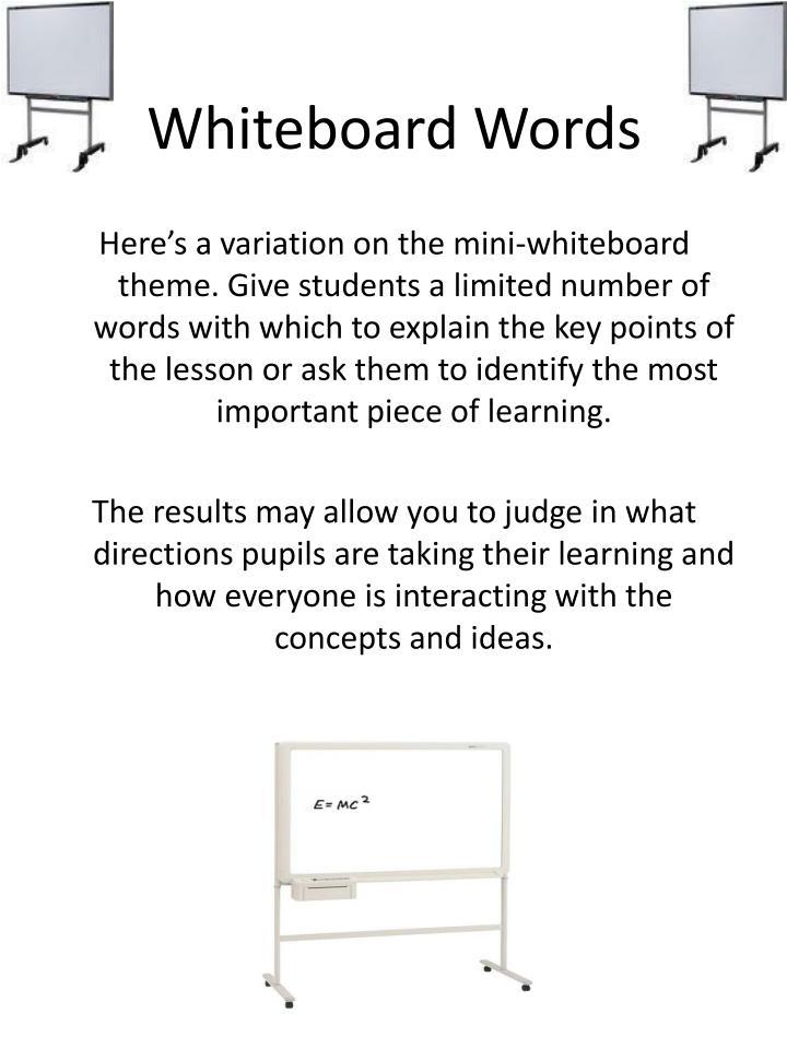 Whiteboard Words