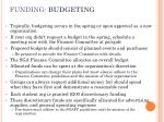 funding budgeting