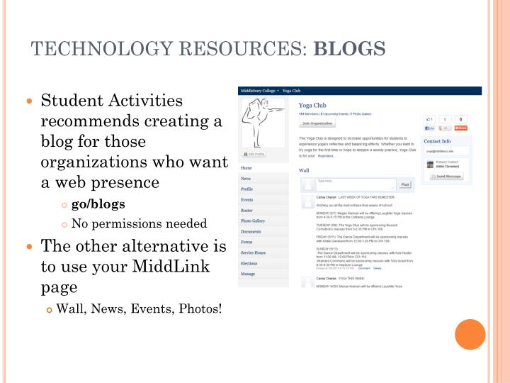 TECHNOLOGY RESOURCES: