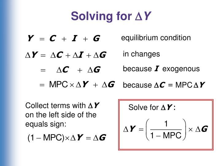 Solving for