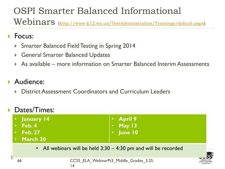 OSPI Smarter Balanced