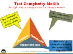 text complexity model the right text at the right time for the right reason