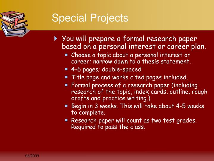 Special Projects