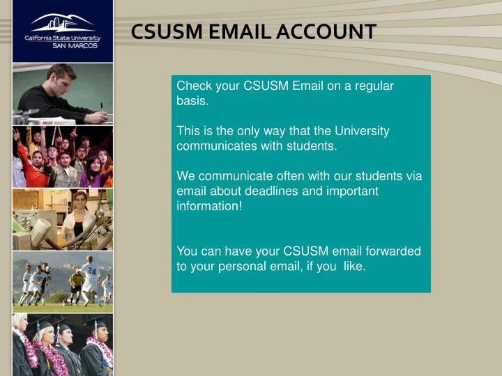 CSUSM Email Account
