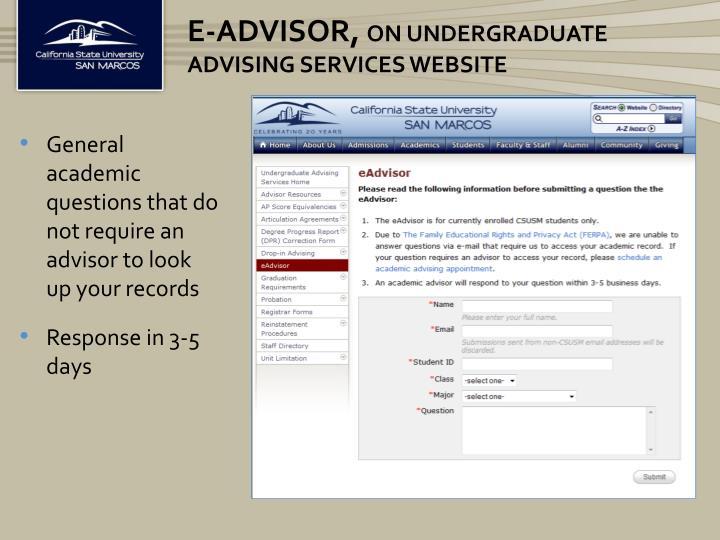e-Advisor,