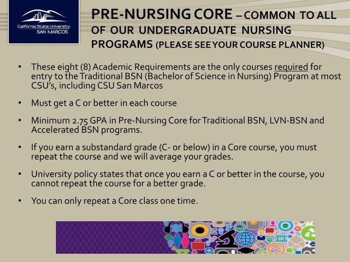 Pre-Nursing Core