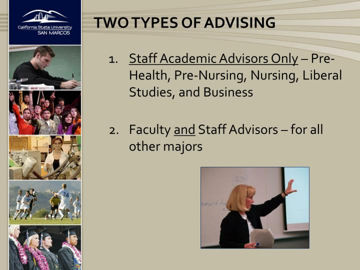 Staff Academic Advisors Only