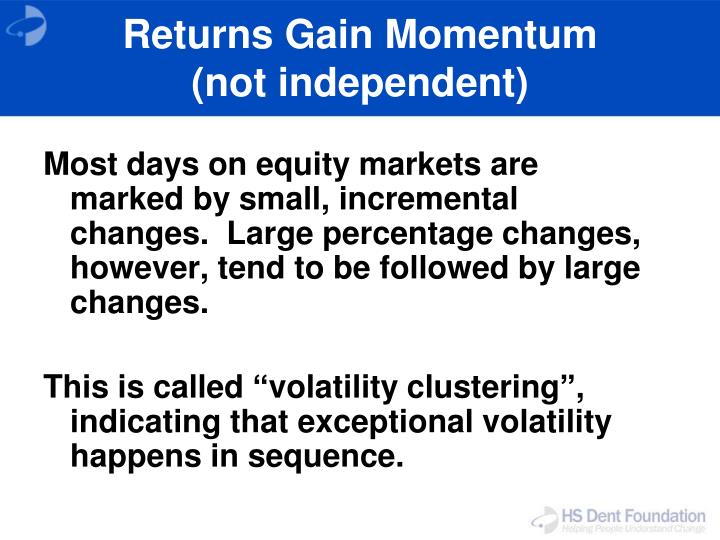 Returns Gain Momentum