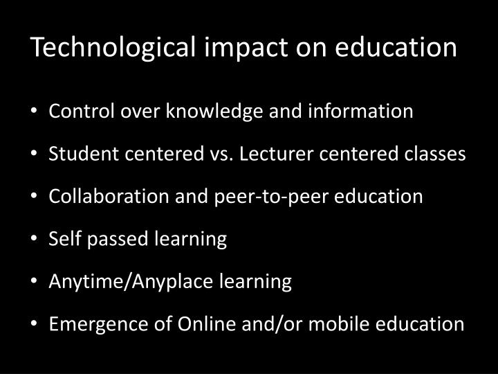 Technological impact on education