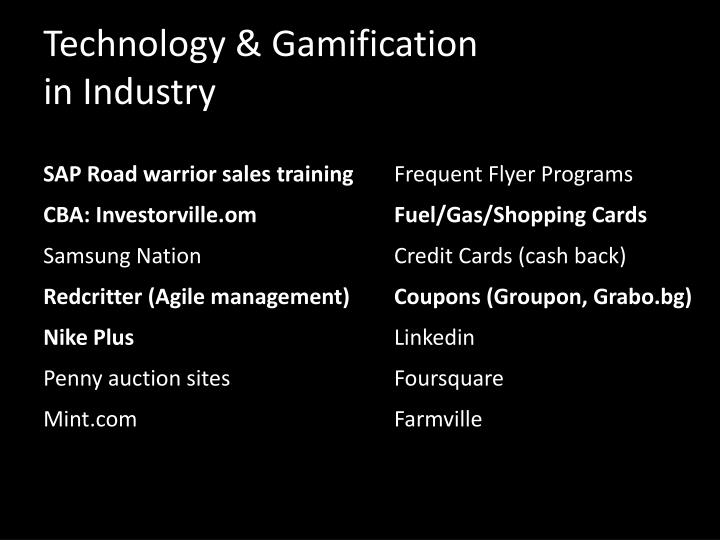 Technology & Gamification