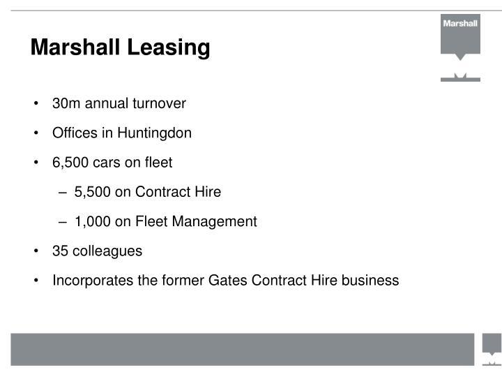 Marshall Leasing